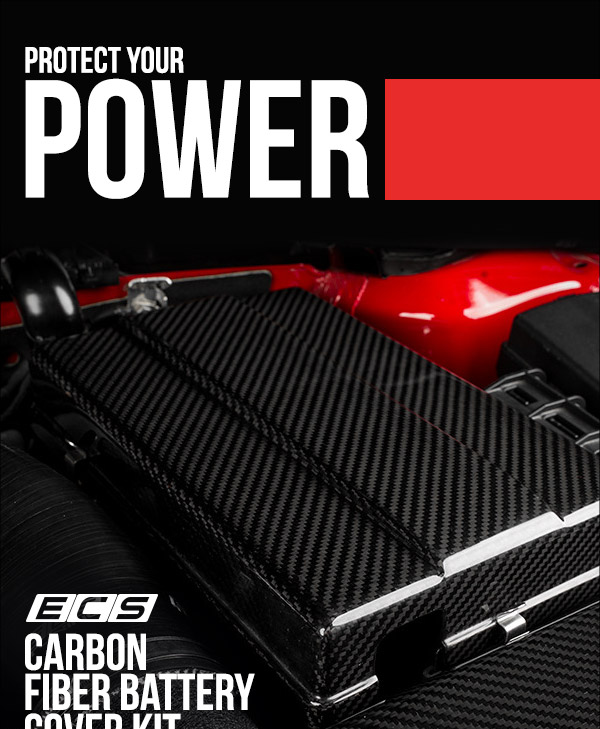 Car Battery For Audi A3: :: ECS Tuning :: NEW!! ECS Carbon Fiber Battery Cover Kit